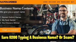 Naming Force Review: Earn $200 Typing A Name? Or Scam?