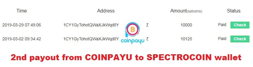 CoinPayU Payments Proof